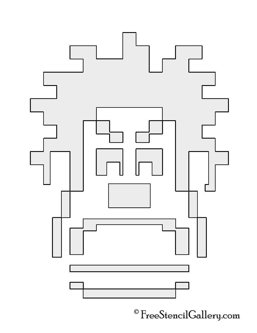 Wreck It Ralph 8-Bit Stencil
