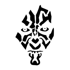 Darth Maul Stencil