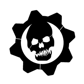 Gears of War – Crimson Omen Logo Stencil