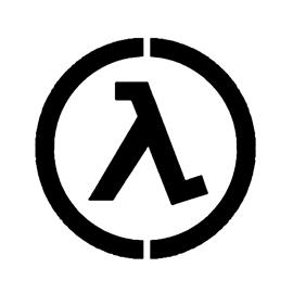 Half Life – Lambda Complex Logo Stencil