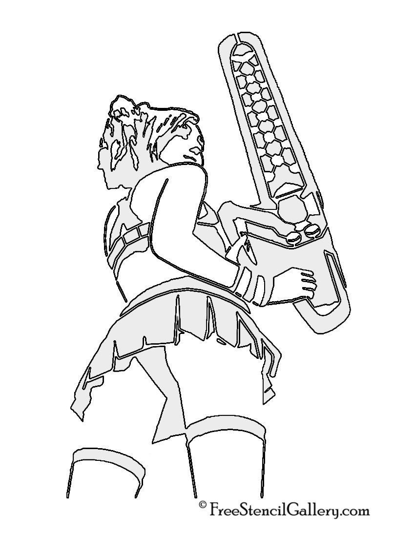Lollipop Chainsaw - Juliet Starling Stencil