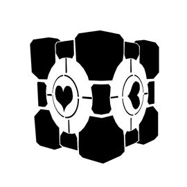 Portal – Weighted Companion Cube Stencil