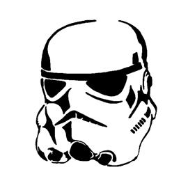 Stormtrooper Helmet Stencil