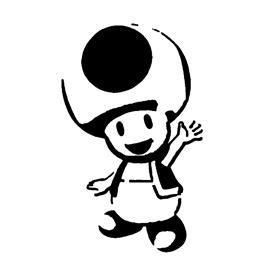 Toad Stencil