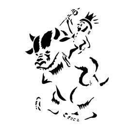 Wild Thing 02 Stencil
