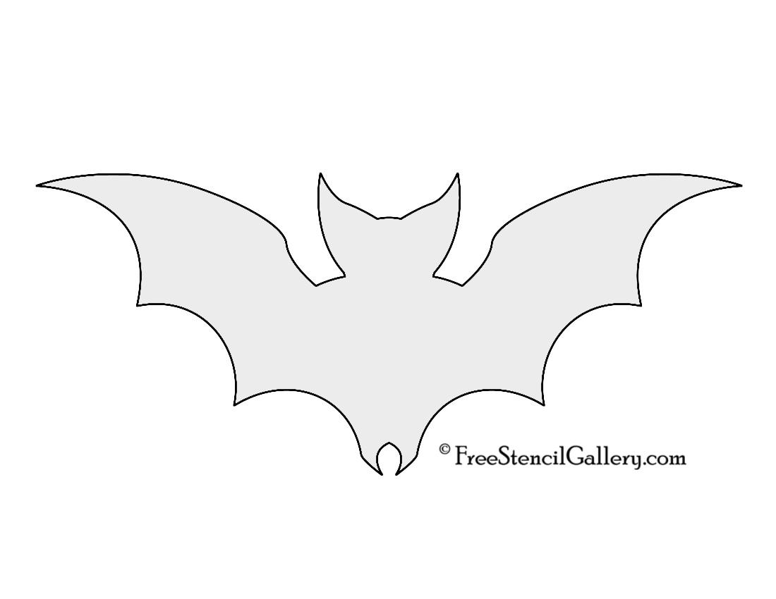 Bat Silhouette Stencil 01
