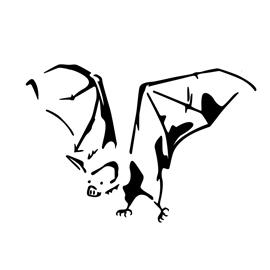 Bat Stencil 01