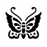 Butterfly Stencil 02