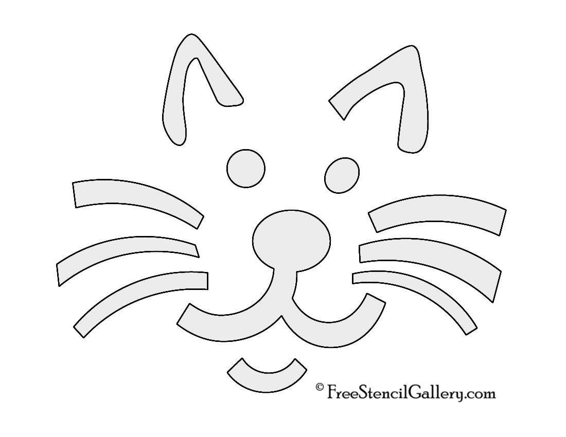 photograph relating to Cat Stencil Printable named Cat Stencil Totally free Stencil Gallery