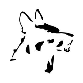Dog - German Shepherd Stencil