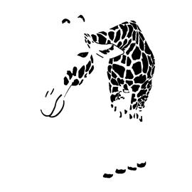Giraffe Stencil 02