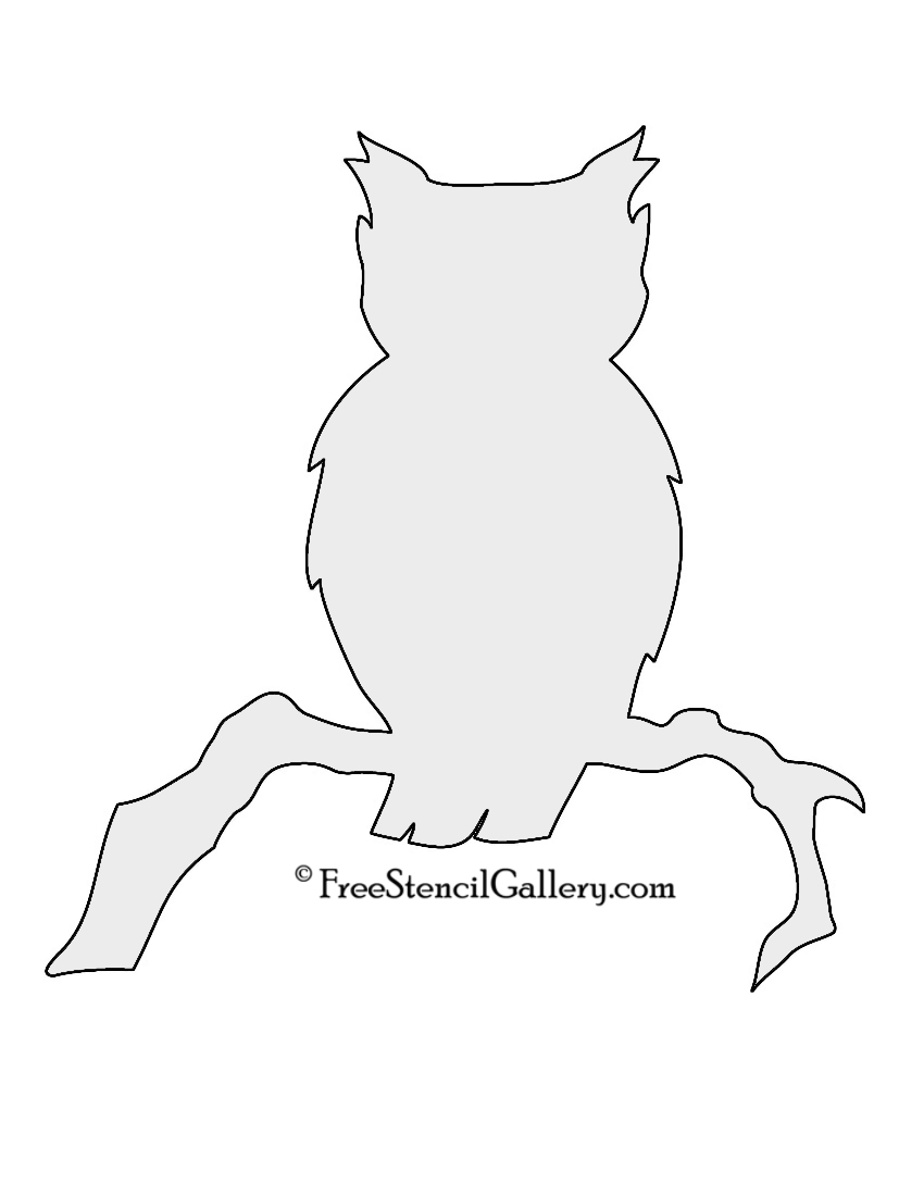 photograph about Printable Owl Stencil named Owl Silhouette Stencil Absolutely free Stencil Gallery
