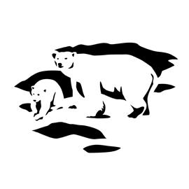 Polar Bear Stencil