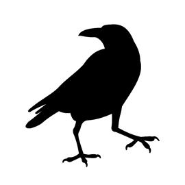 Raven Silhouette Stencil