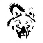 Wolf Stencil 02