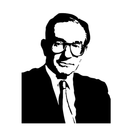 Alan Greenspan Stencil