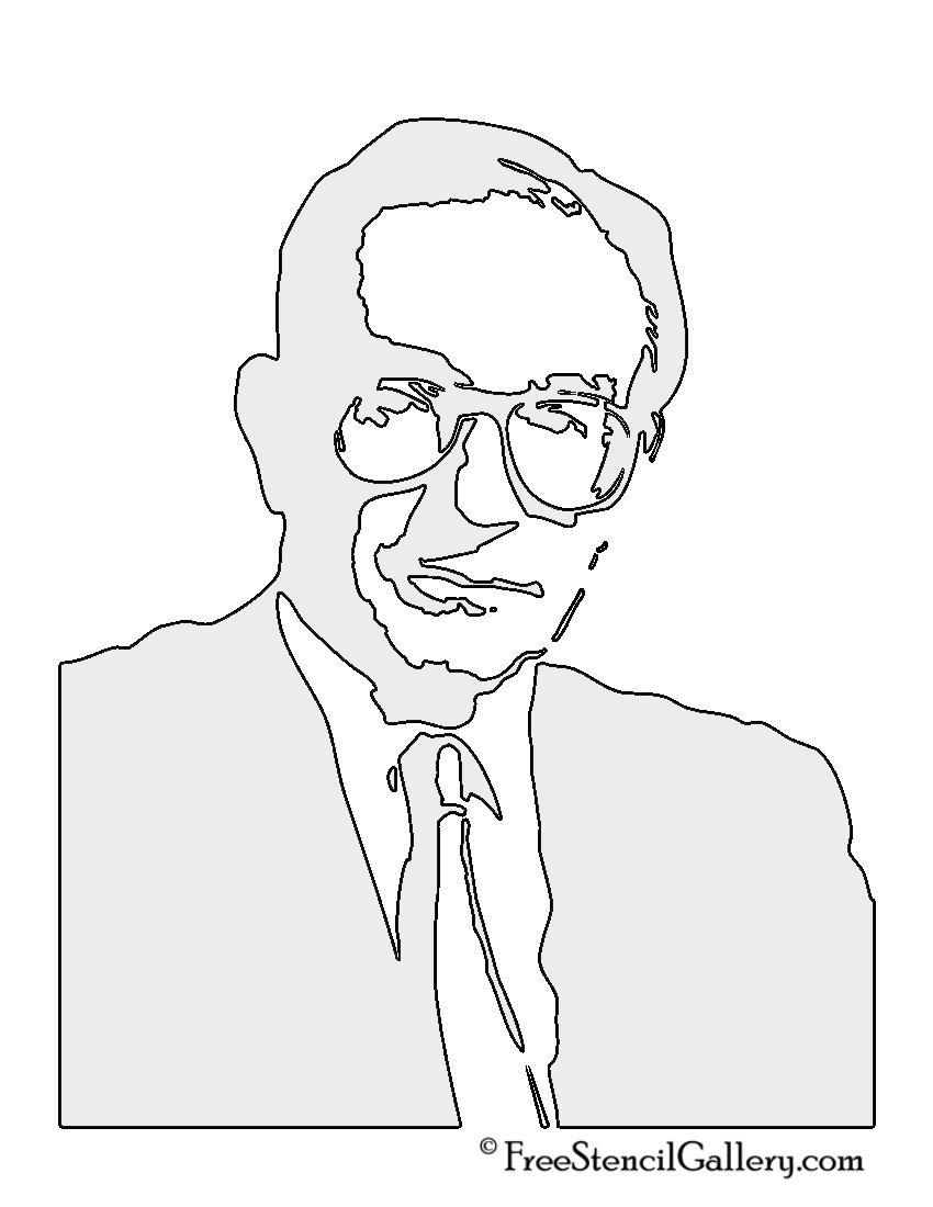 Alan Greenspan Stencil