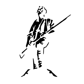 American Revolutionary Soldier Stencil
