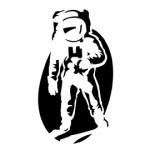 Astronaut Stencil