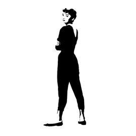 Audrey Hepburn Stencil