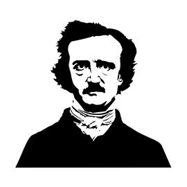Edgar Allan Poe Stencil