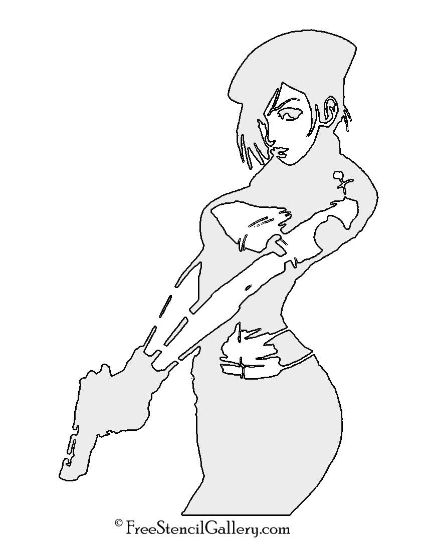Jill Valentine Stencil