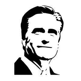 Mitt Romney Stencil