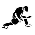 Rock Guitarist Stencil