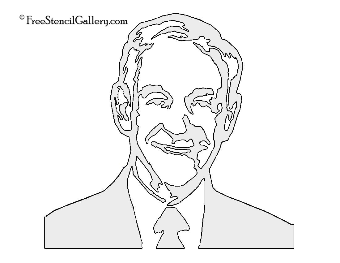Ron Paul Stencil