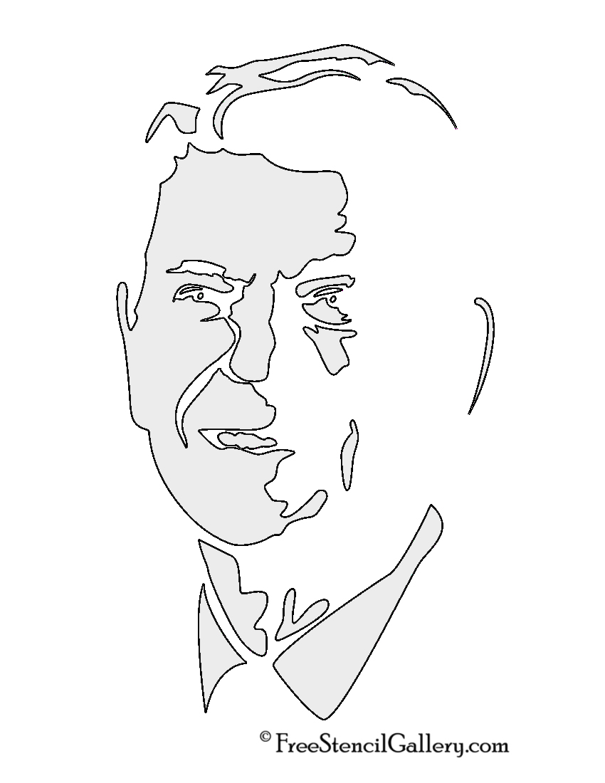 Ronald Regan Stencil