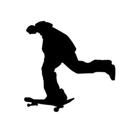 Skateboarder Silhouette Stencil