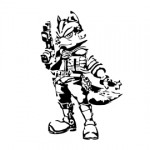 Star Fox - Fox McCloud Stencil