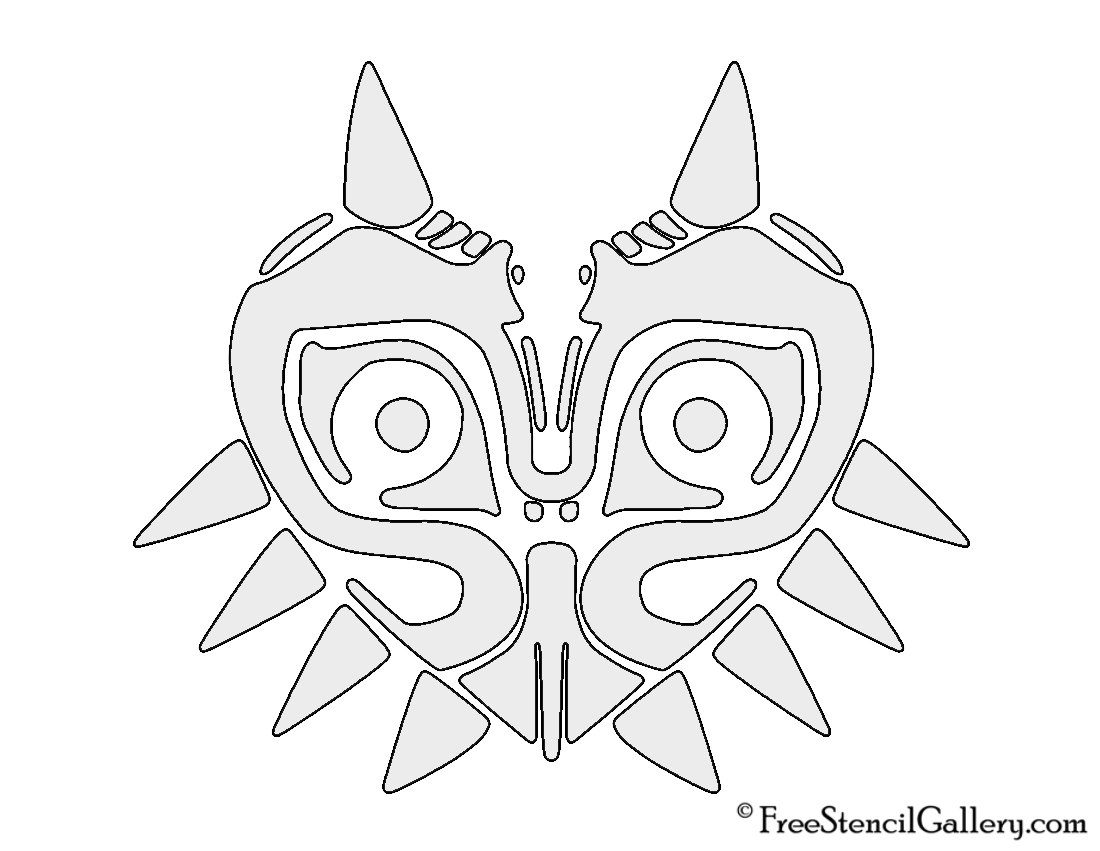 The Legend of Zelda - Majora's Mask Stencil