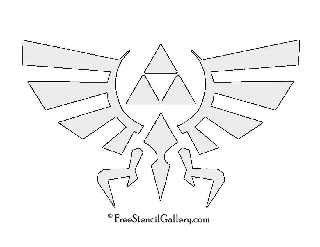 The Legend Of Zelda Triforce Symbol Stencil Free Stencil Gallery