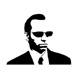 The Matrix – Agent Smith Stencil