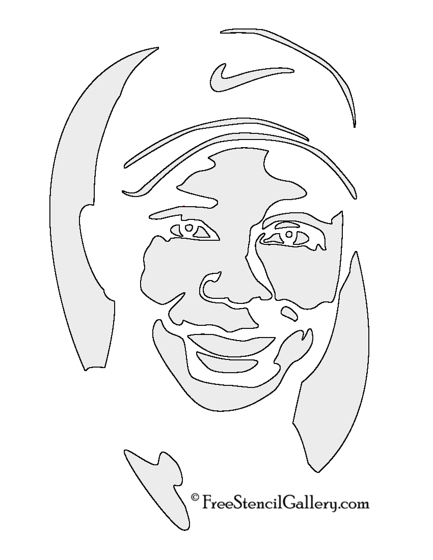 Tiger Woods Stencil