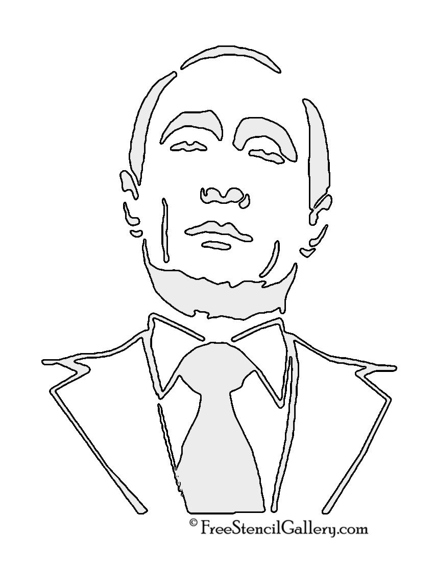 Vladimir Putin Stencil 02