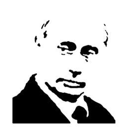 Vladimir Putin Stencil 01