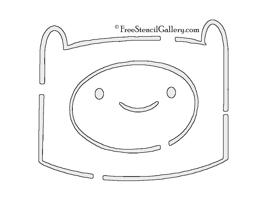 Adventure Time - Finn Stencil