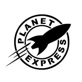 Futurama – Planet Express Logo Stencil