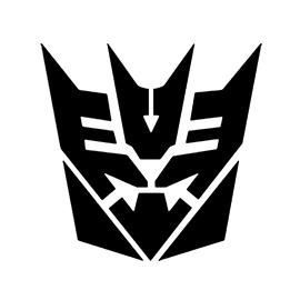 Tranformers – Decepticon Symbol Stencil
