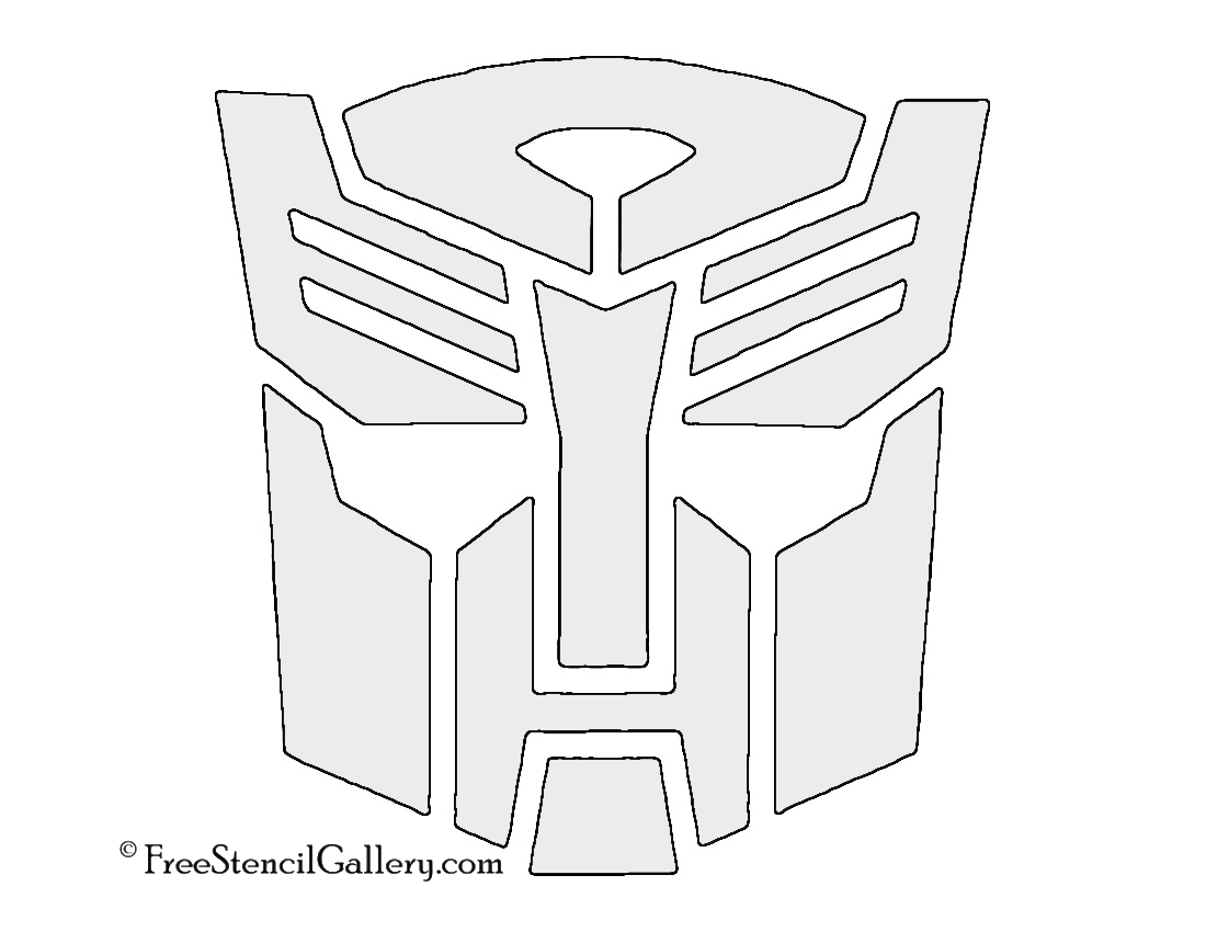 Transformers Autobot Symbol Stencil Free Stencil Gallery