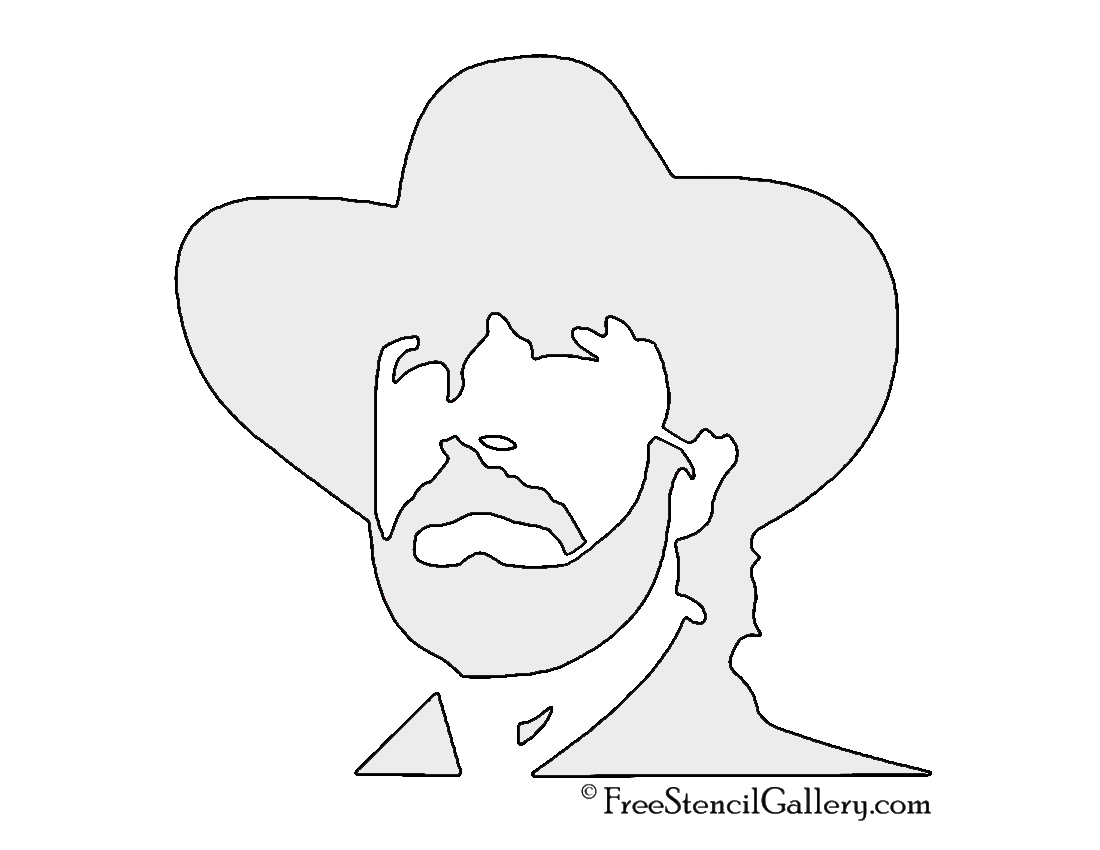 Walker Texas Ranger Stencil