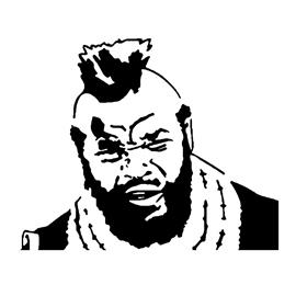 A-Team – B.A. Baracus Stencil 2