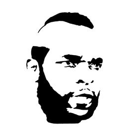 A-Team – B.A. Baracus Stencil