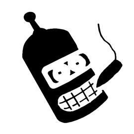 Futurama – Bender Stencil