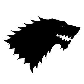 Game of Thrones - House Stark Sigil Stencil 1 | Free ...