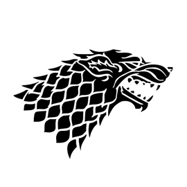 Game of Thrones – House Stark Sigil Stencil 2