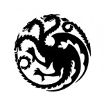 Game of Thrones - House Targaryen Sigil Stencil