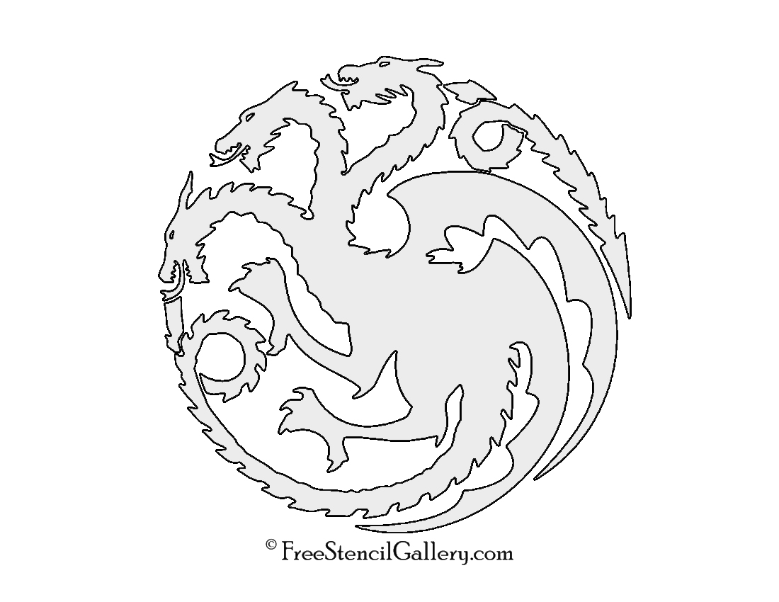 Game Of Thrones House Targaryen Sigil Stencil Free Stencil Gallery